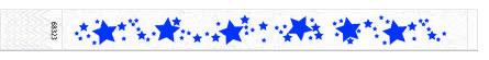 25mm žvaigždžių tekstūros juostelės